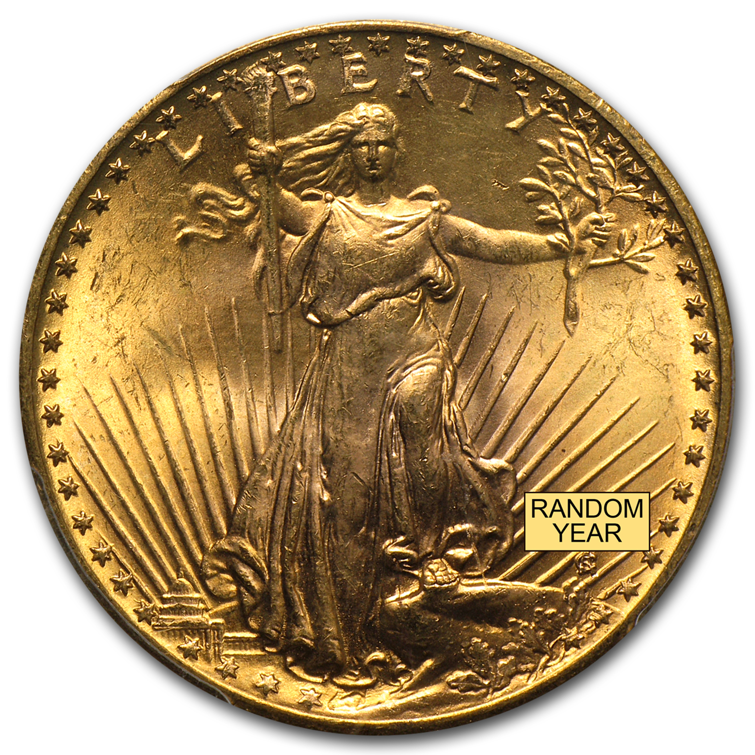 $20 Saint-Gaudens Gold Double Eagle MS-65+ PCGS