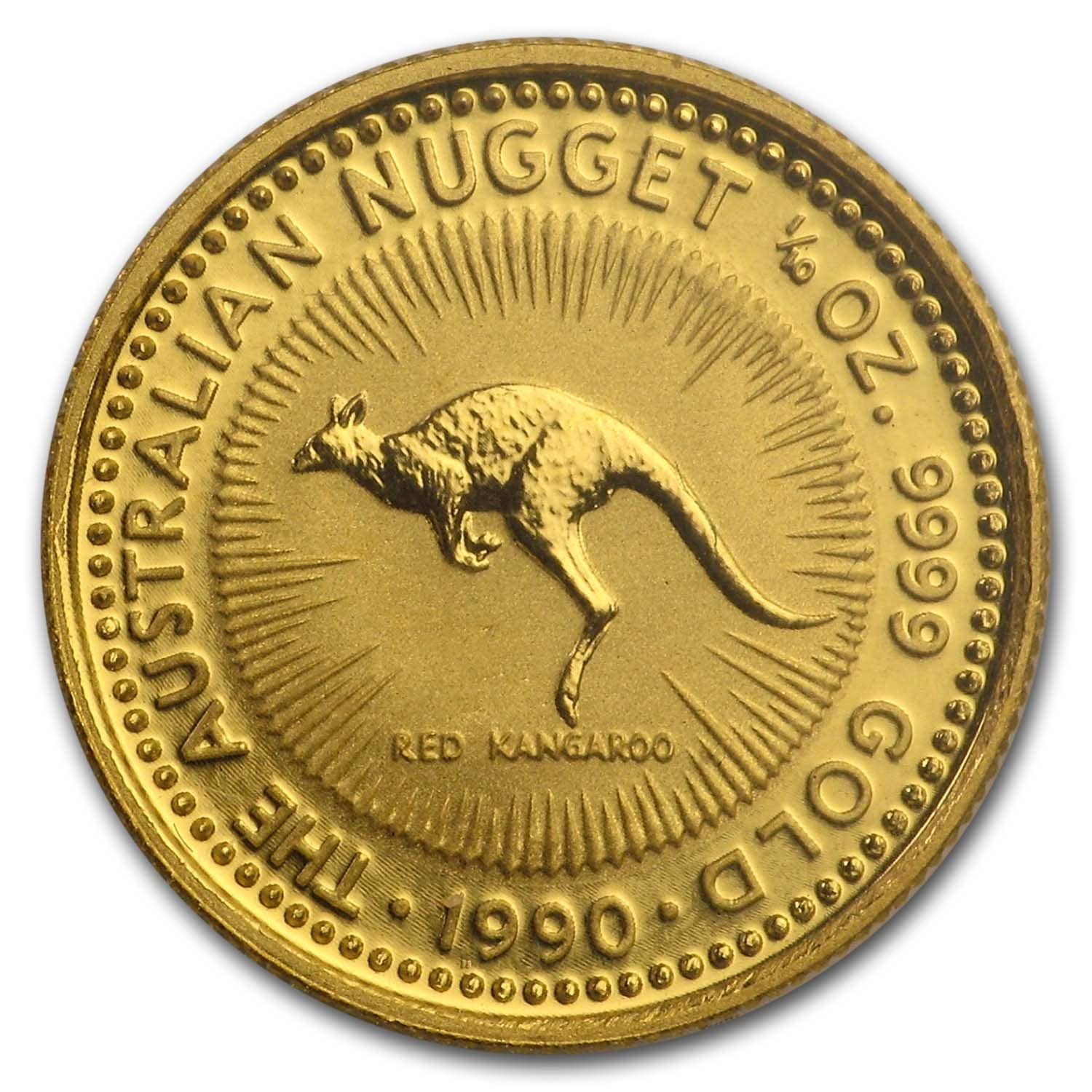 1990 Australia 1/10 oz Gold Nugget