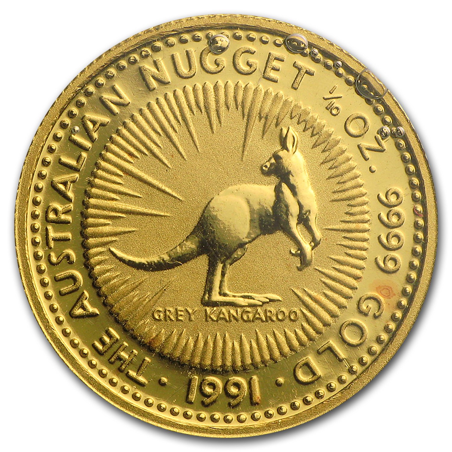 1991 Australia 1/10 oz Gold Nugget
