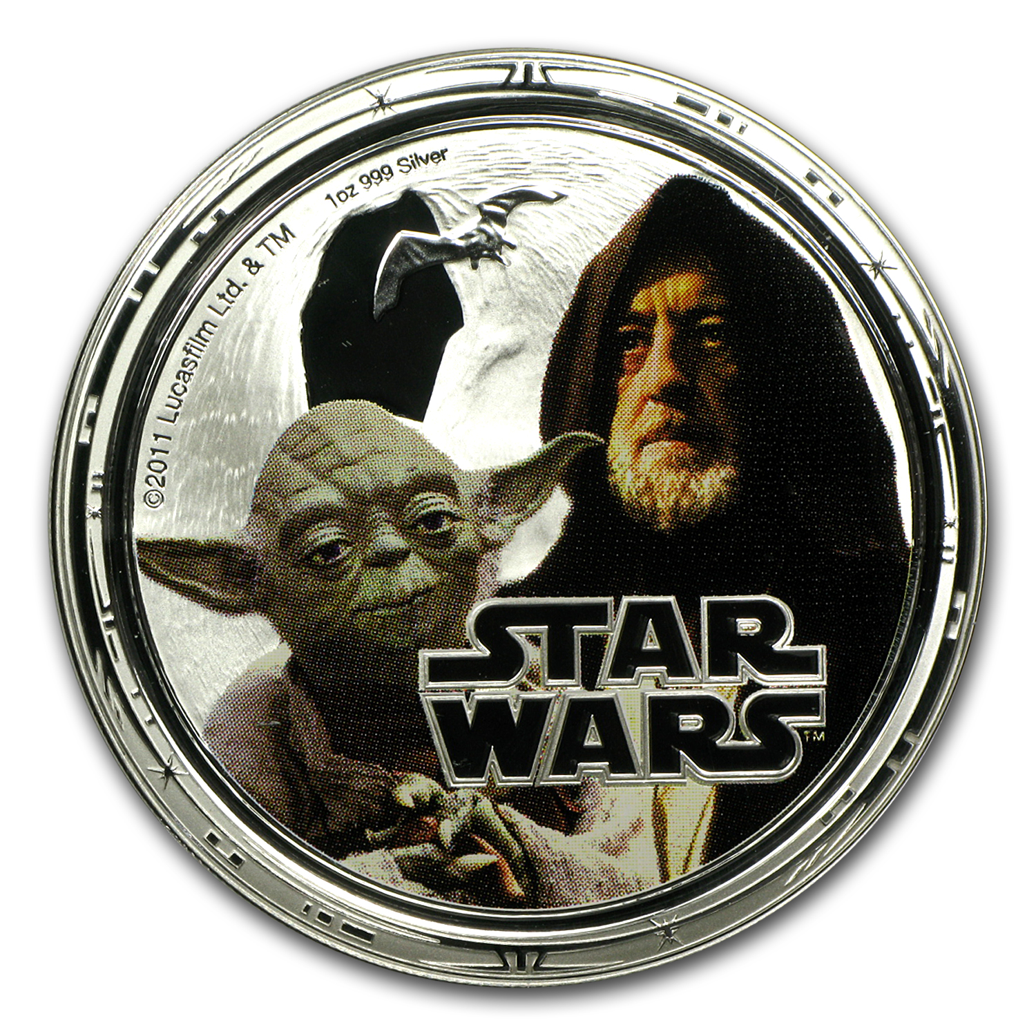2011 Niue 4-Coin 1 oz Silver $2 Star Wars Pf Set (Rebel Alliance)