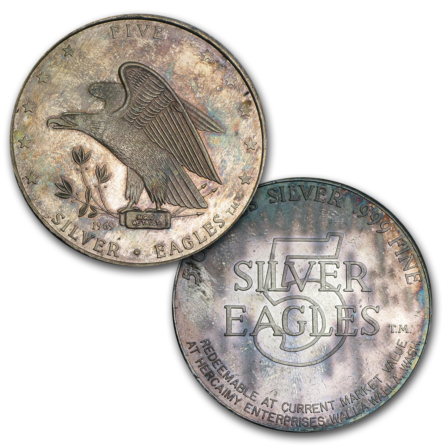 19 25 Oz Silver Eagles Nest Set 1969 All Other Sizes