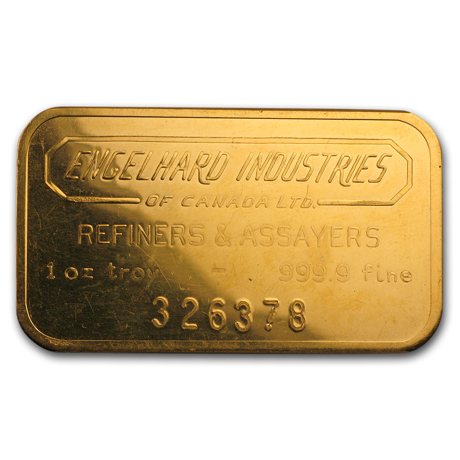 1 oz Gold Bar - Engelhard Industries
