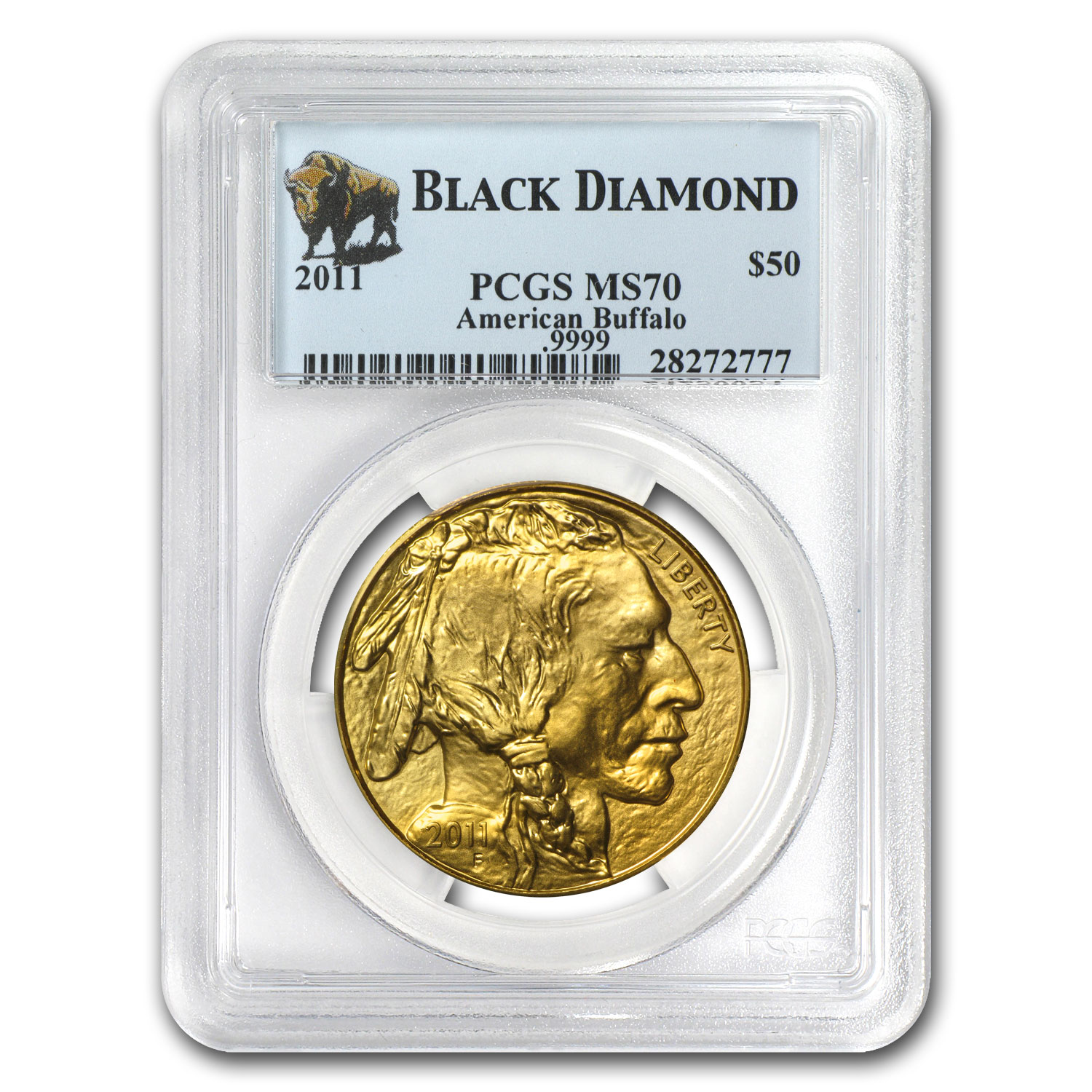 2011 1 oz Gold Buffalo MS-70 PCGS (Black Diamond)