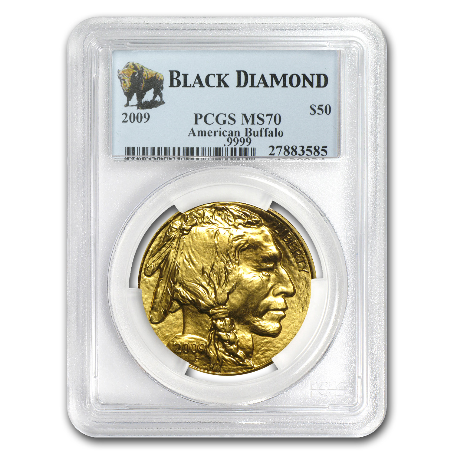 2009 1 oz Gold Buffalo MS-70 PCGS (Black Diamond)