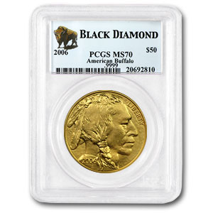 2006 1 oz Gold Buffalo MS-70 PCGS (Black Diamond)