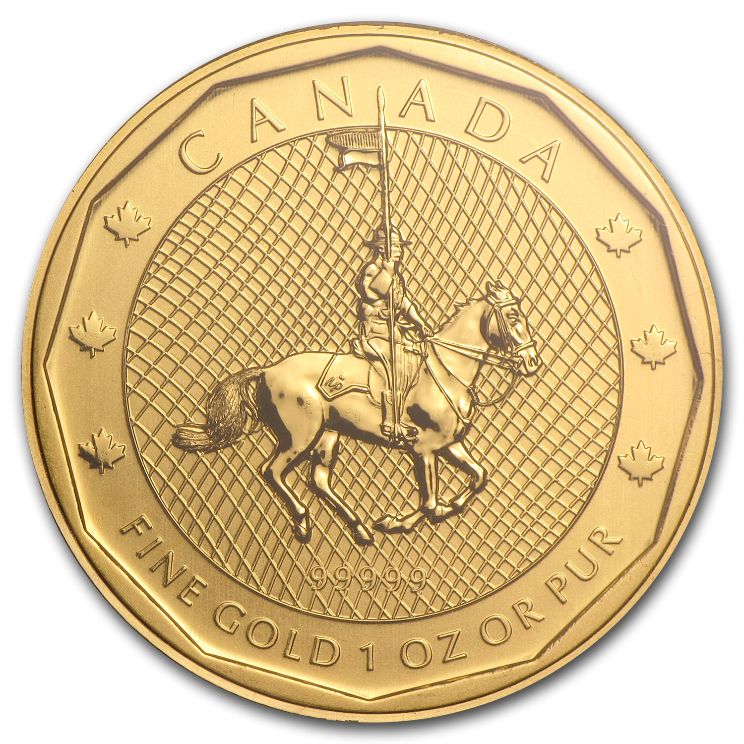 2011 Canada 1 oz Gold Mountie Maple Leaf .99999 BU (Assay Card)