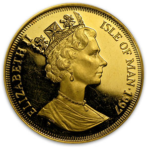 Isle of Man 1997 1 Crown Gold Proof Birth of Christ