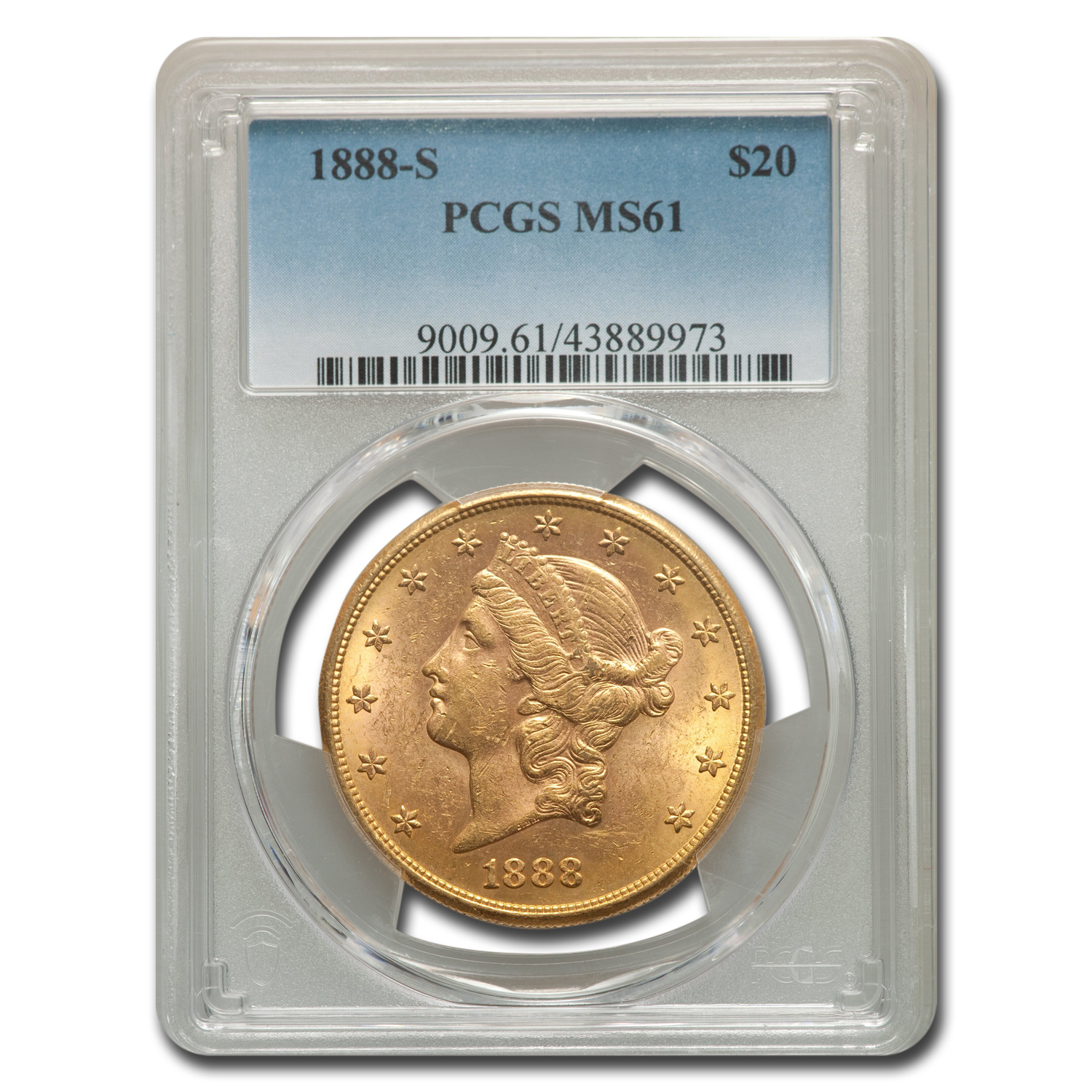 1888-S $20 Liberty Gold Double Eagle MS-61 PCGS