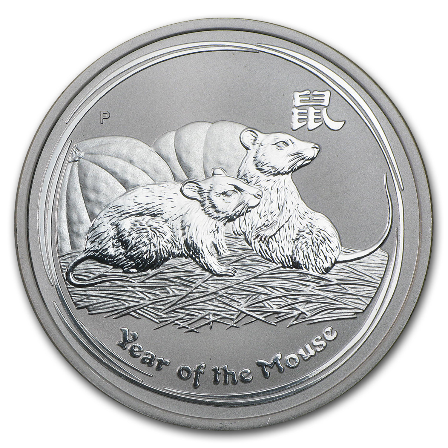 2008 1/2 oz Silver Australian Year of the Mouse SII (Abrasions)