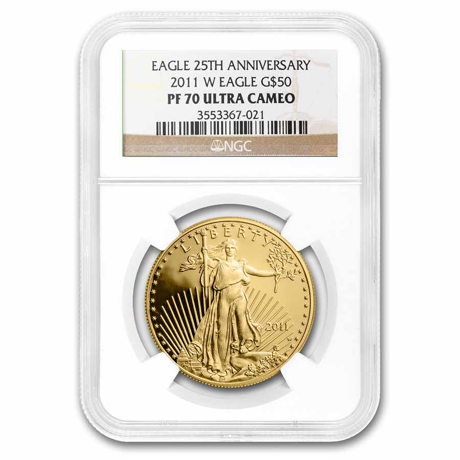 2011-W 1 oz Proof Gold American Eagle PF-70 UCAM NGC