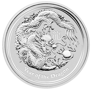 2012 4-Coin 1 oz Silver Australian Year of the Dragon Type Set