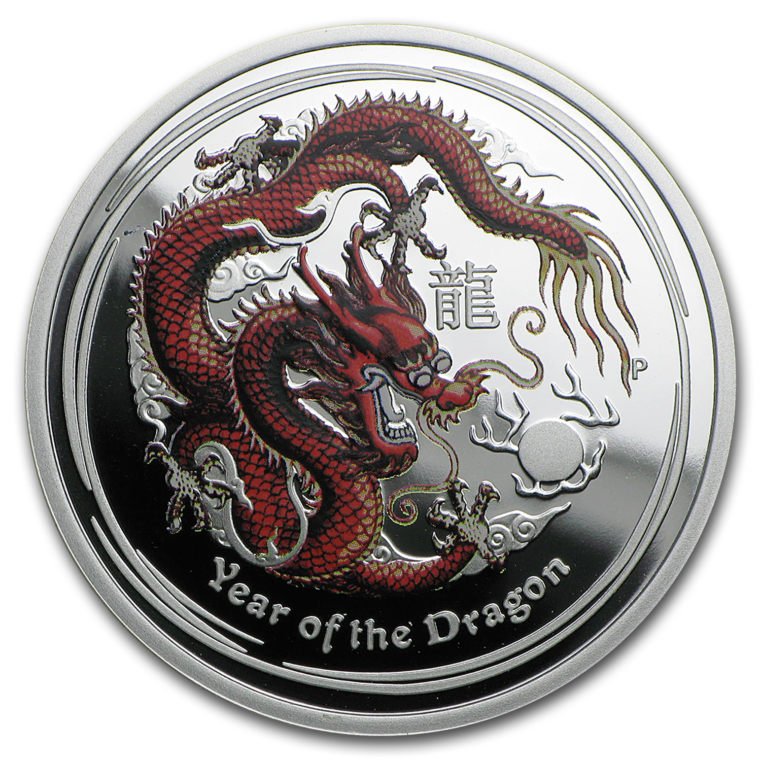 2012 Australia 1/2 oz Silver Dragon Proof (Colorized)
