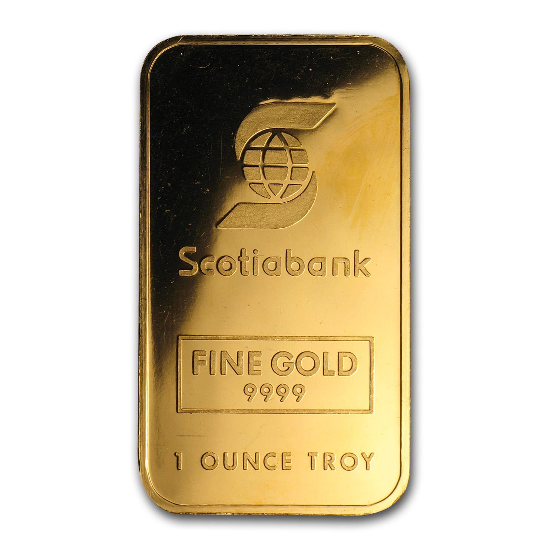 1 Oz Gold Bar Johnson Matthey Scotiabank Johnson