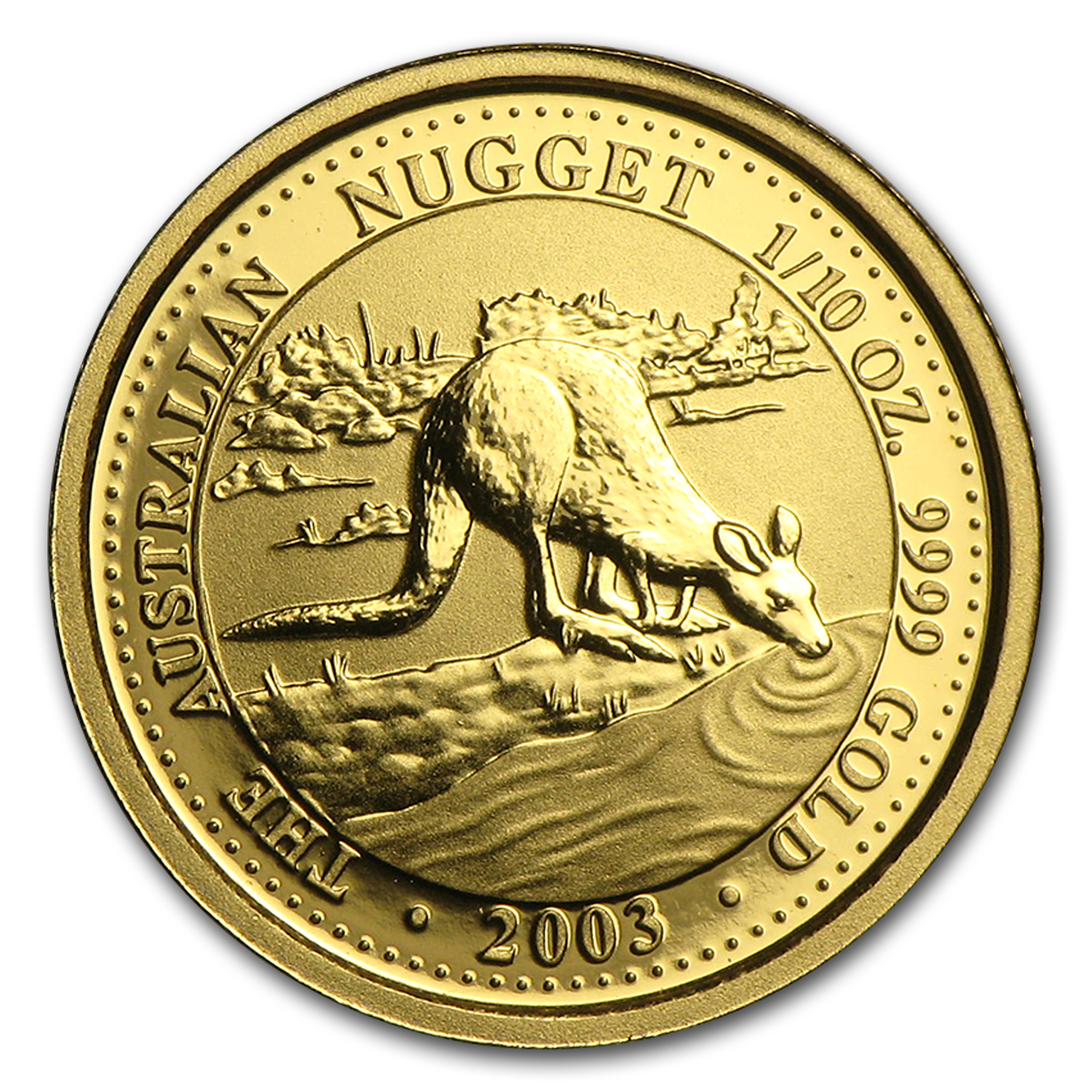 2003 Australia 1/10 oz Gold Nugget