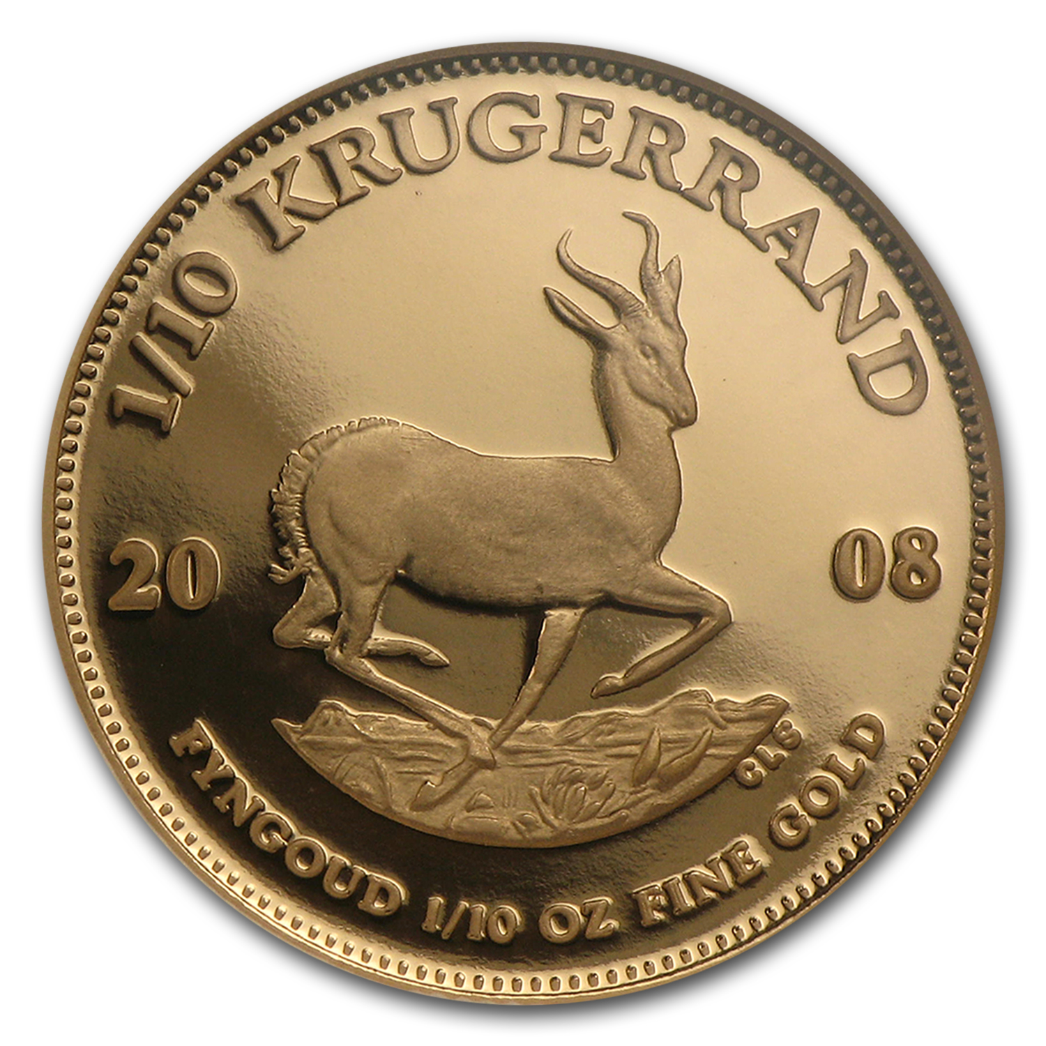 2008 South Africa 1/10 oz Gold Krugerrand PF-69 NGC