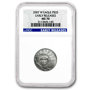 2007-W 1/4 oz Burnished Platinum American Eagle MS-70 NGC (ER)