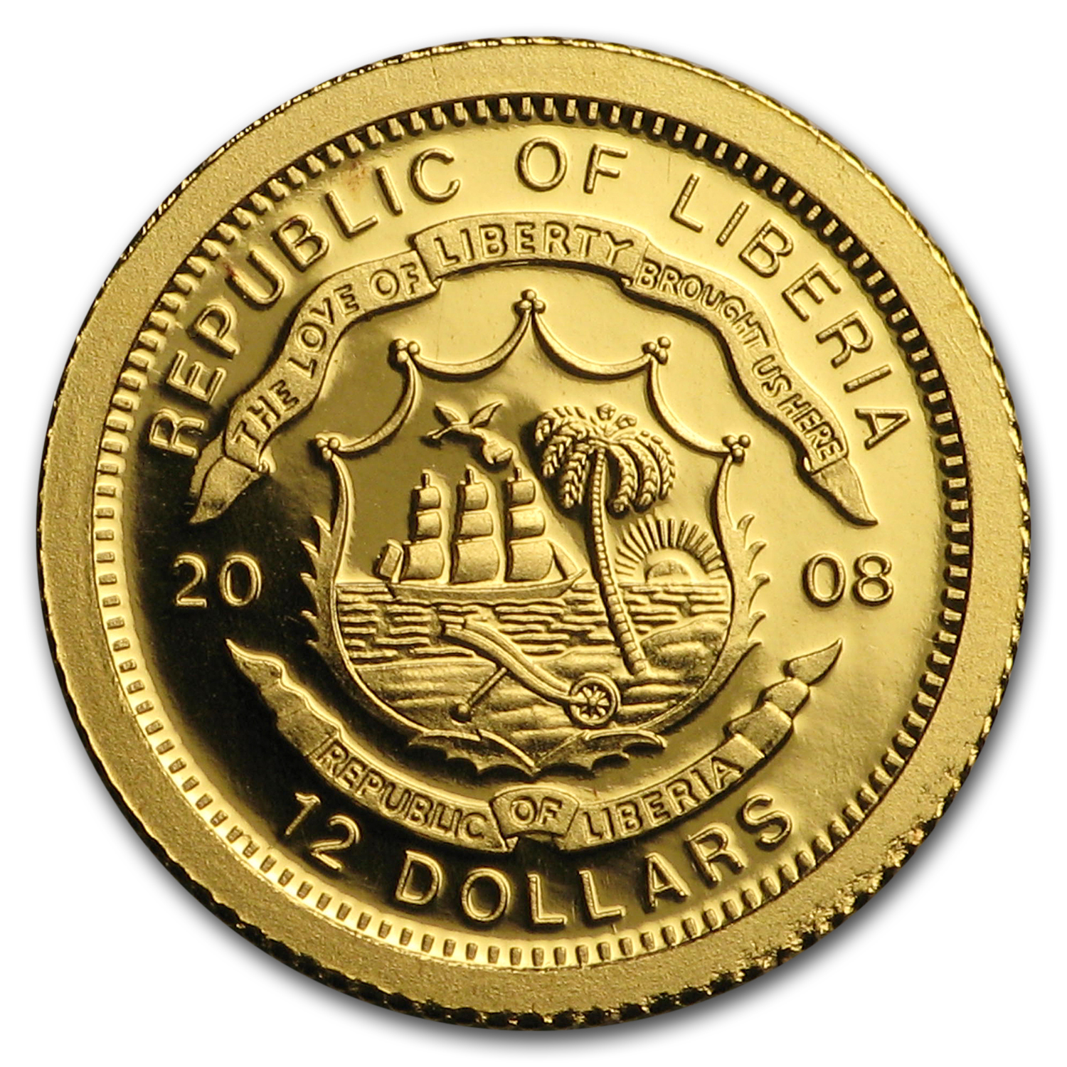 2008 Liberia 26-Coin Proof Gold $12 European Collection