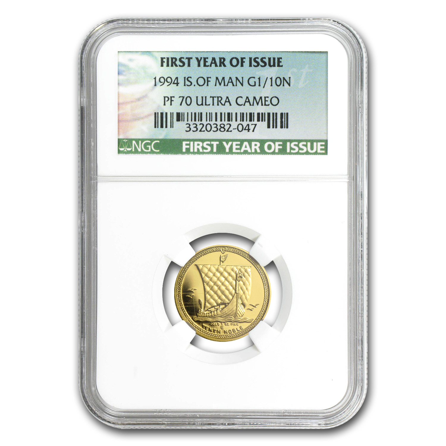 Isle of Man 1994 1/10 oz Gold Proof Noble NGC PF-70 UC