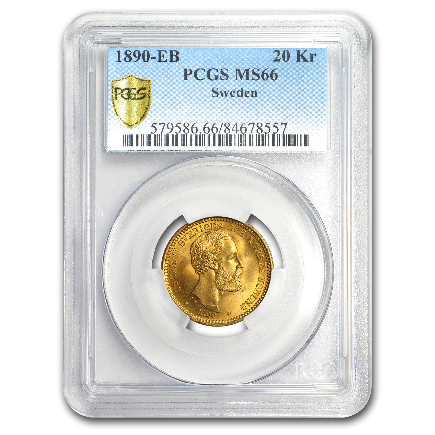 Sweden Gold 20 Kronor MS-66 PCGS/NGC (Random Dates)