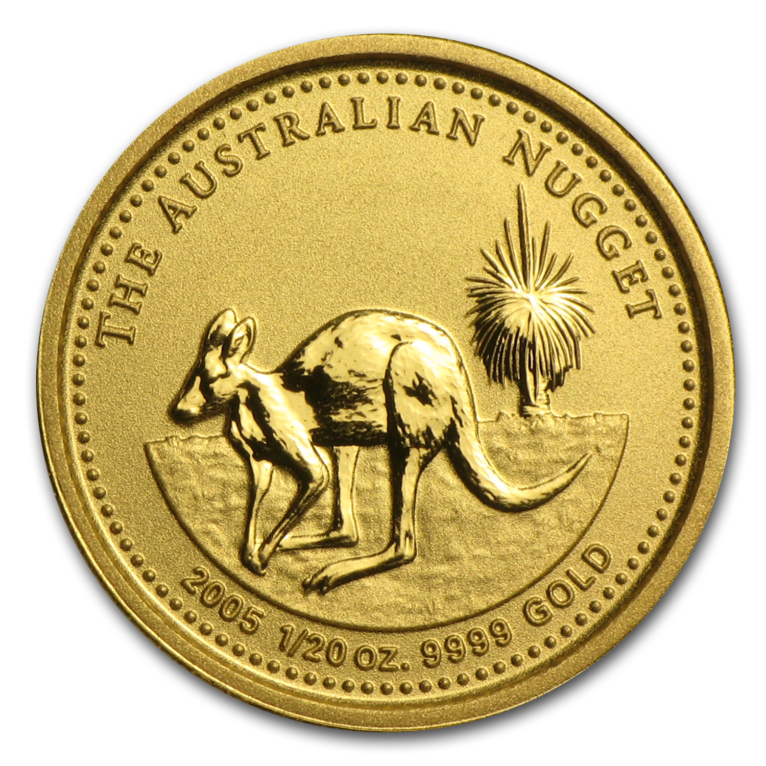 2005 Australia 1/20 oz Gold Nugget