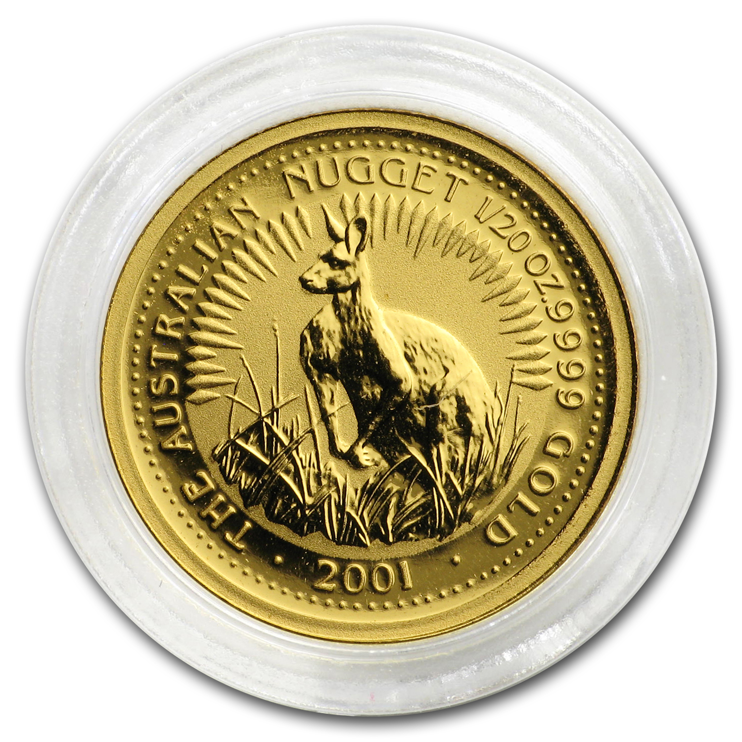 2001 Australia 1/20 oz Gold Nugget
