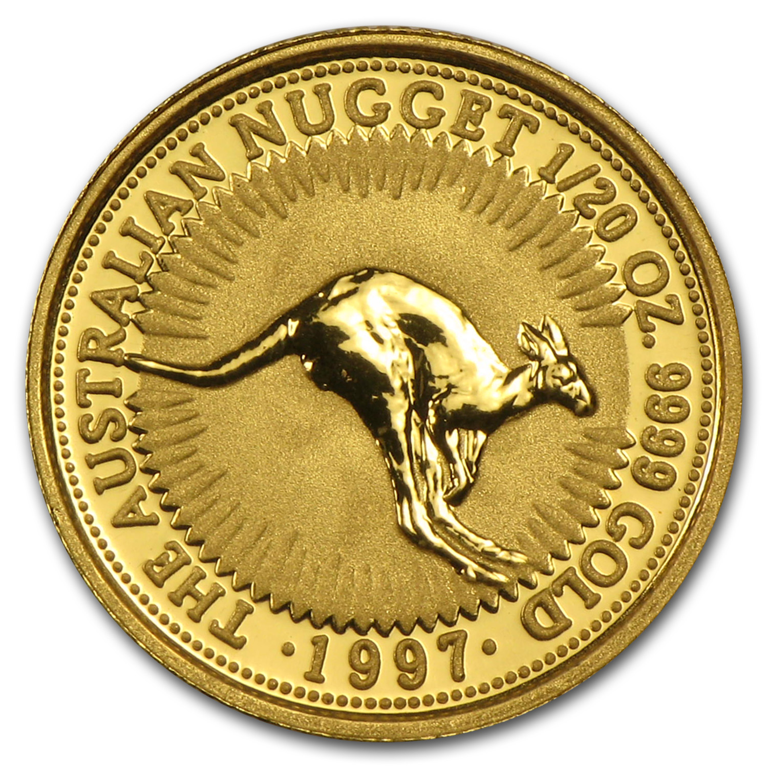 1997 Australia 1/20 oz Gold Nugget