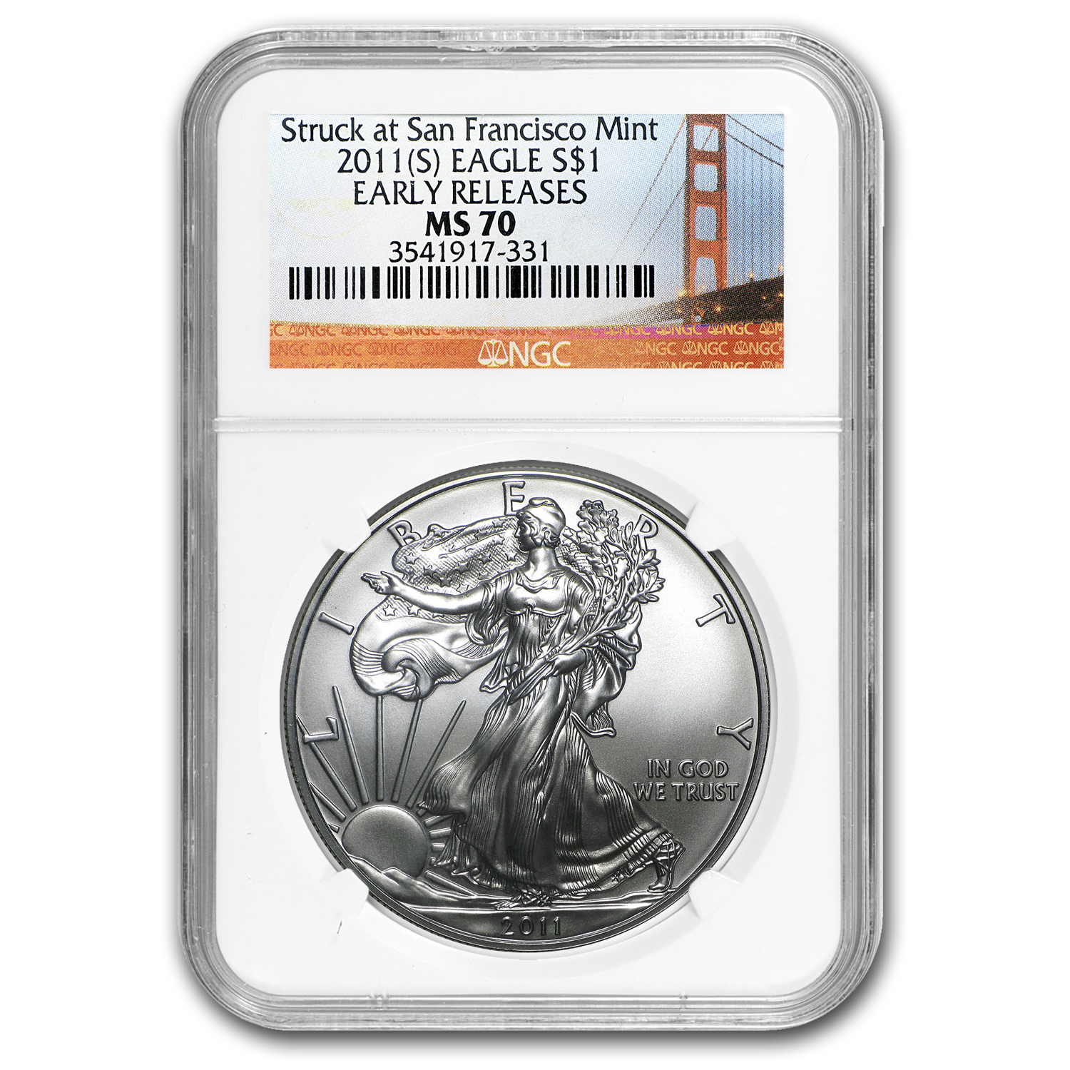 2011 (S) Silver American Eagle MS-70 NGC (Early Releases)