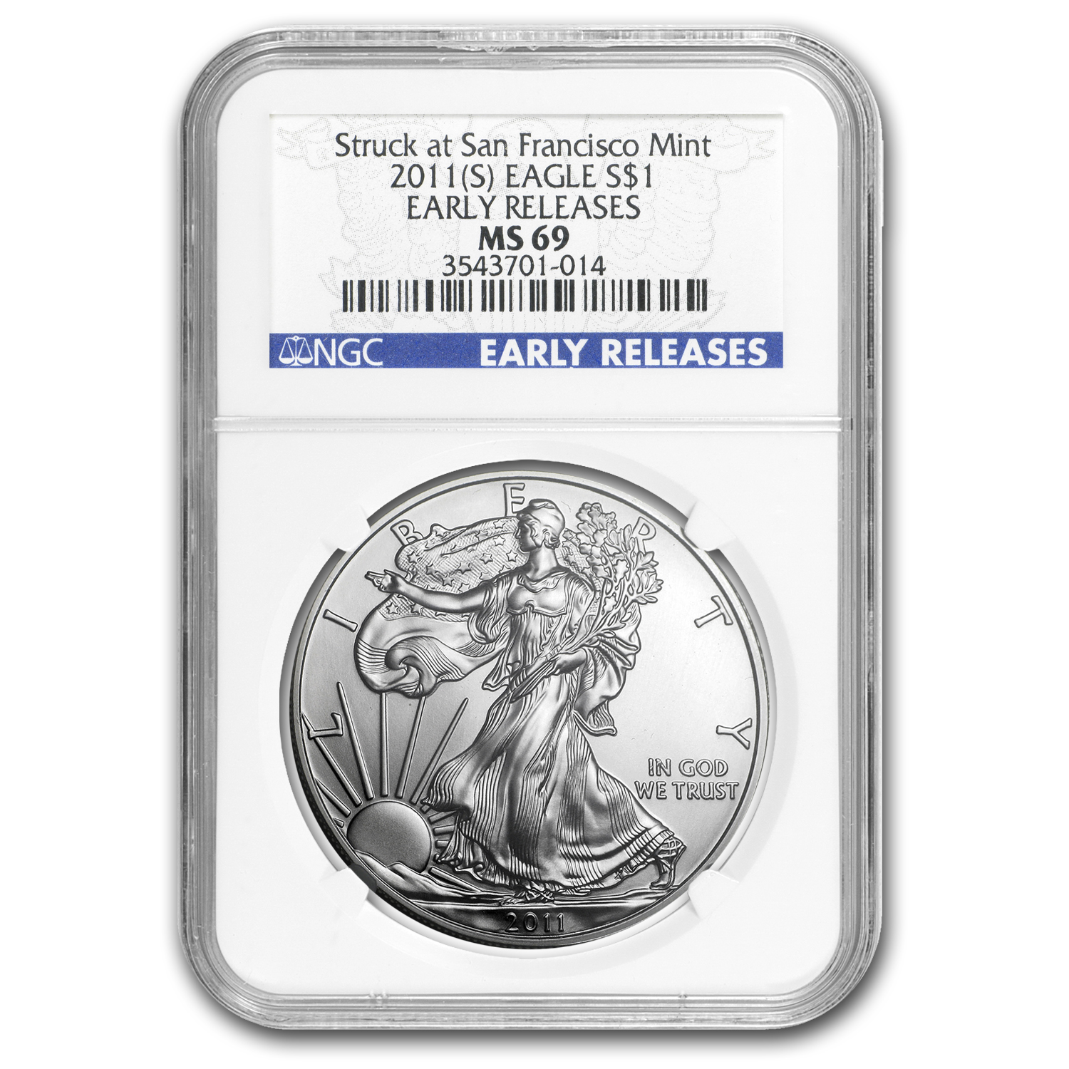 2011 (S) Silver American Eagle MS-69 NGC (ER)