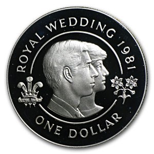 1981 Bermuda Silver Dollar Royal Wedding Proof Silver