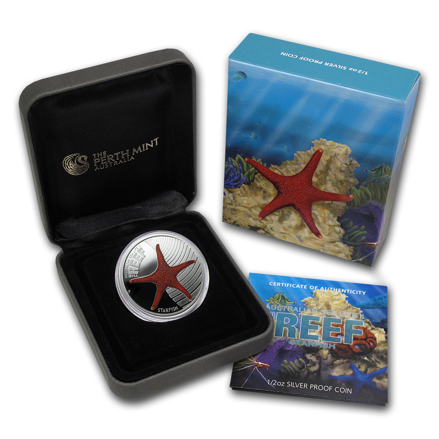 2011 Australia 1/2 oz Silver Starfish Proof (w/Box & COA)