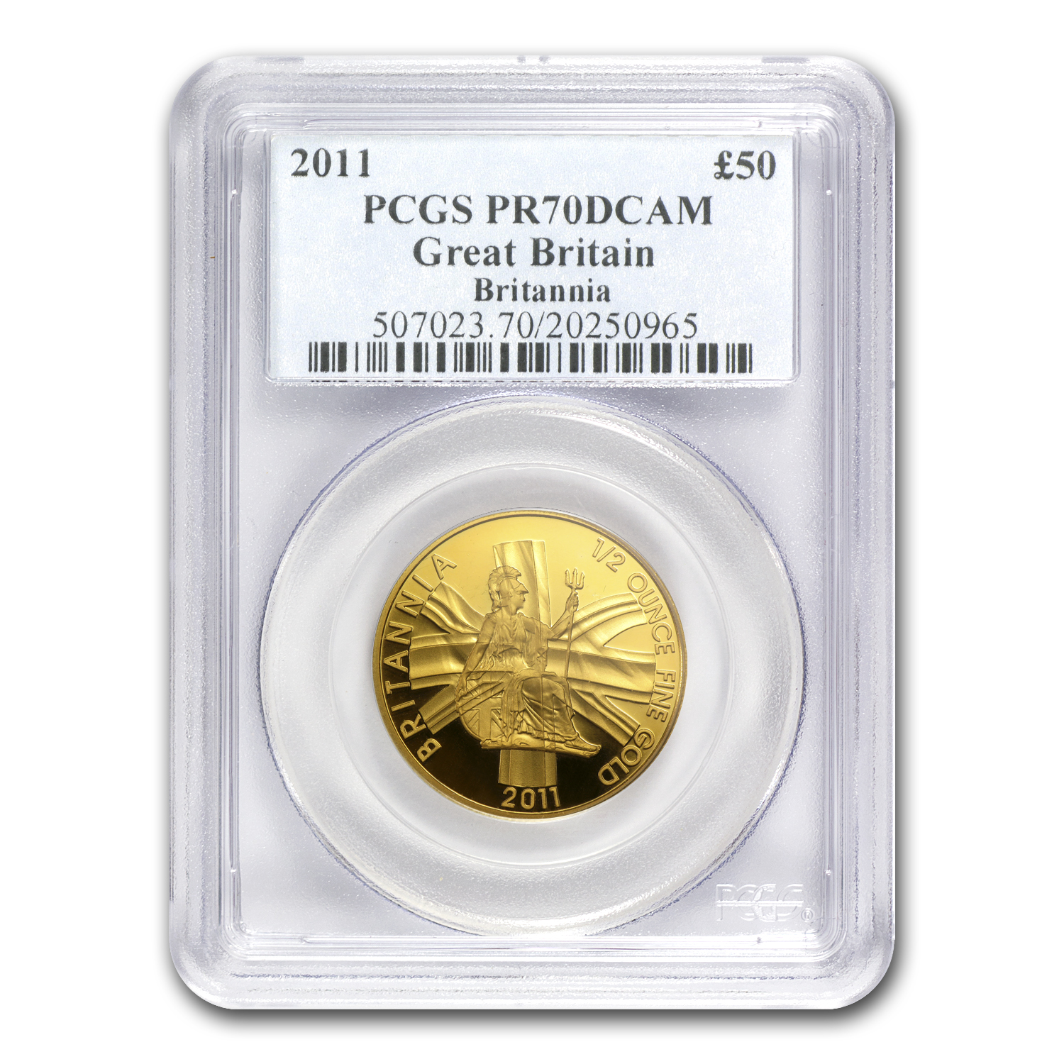 2011 Great Britain 1/2 oz Proof Gold Britannia PR-70 PCGS