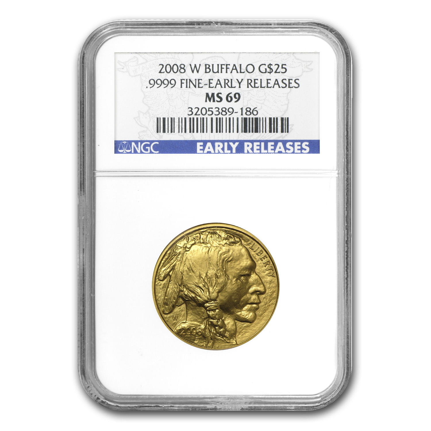 2008-W 1/2 oz Gold Buffalo MS-69 NGC (Early Releases)