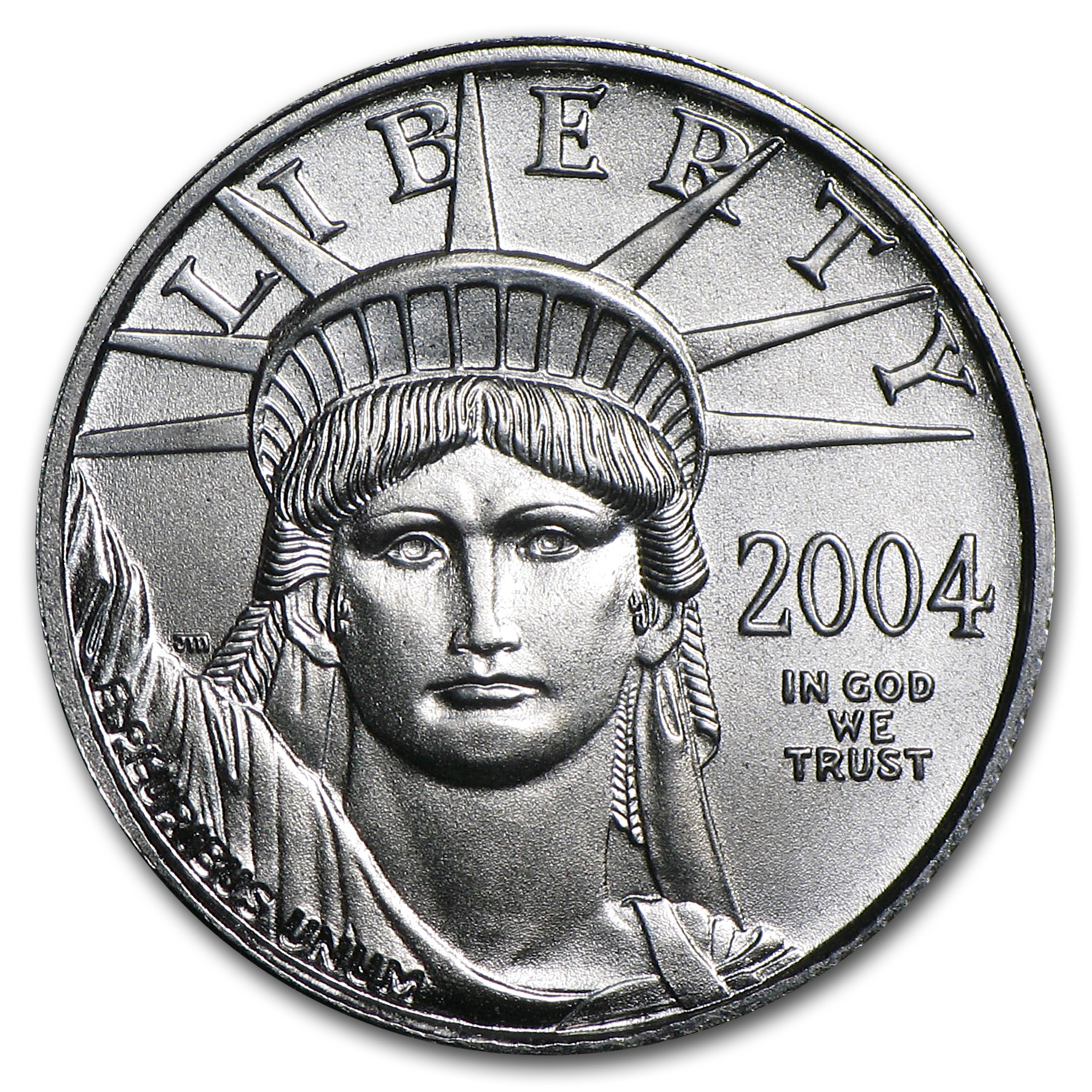 2004 1/10 oz Platinum American Eagle BU