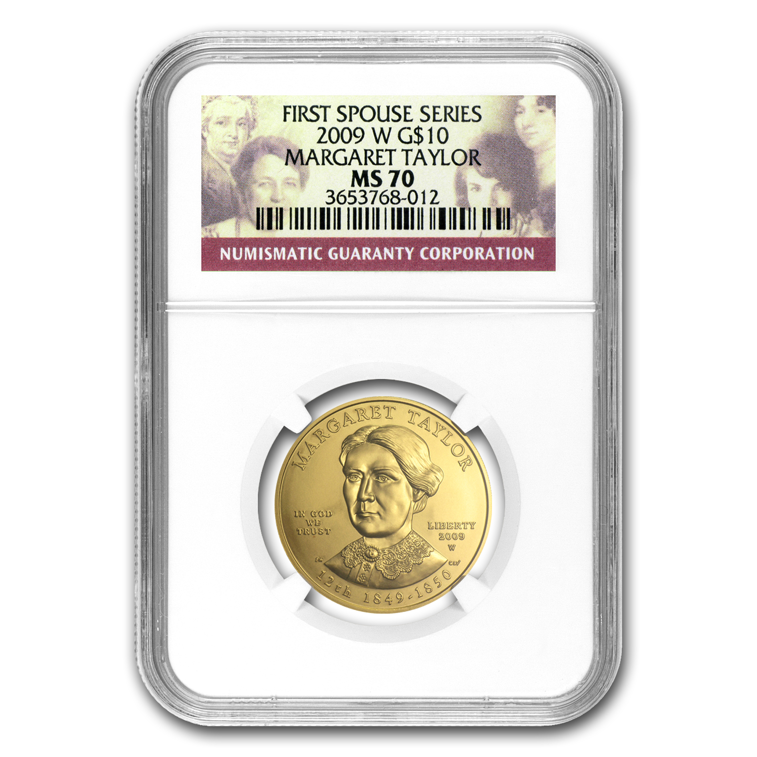 2009-W 1/2 oz Gold Margaret Taylor MS-70 NGC