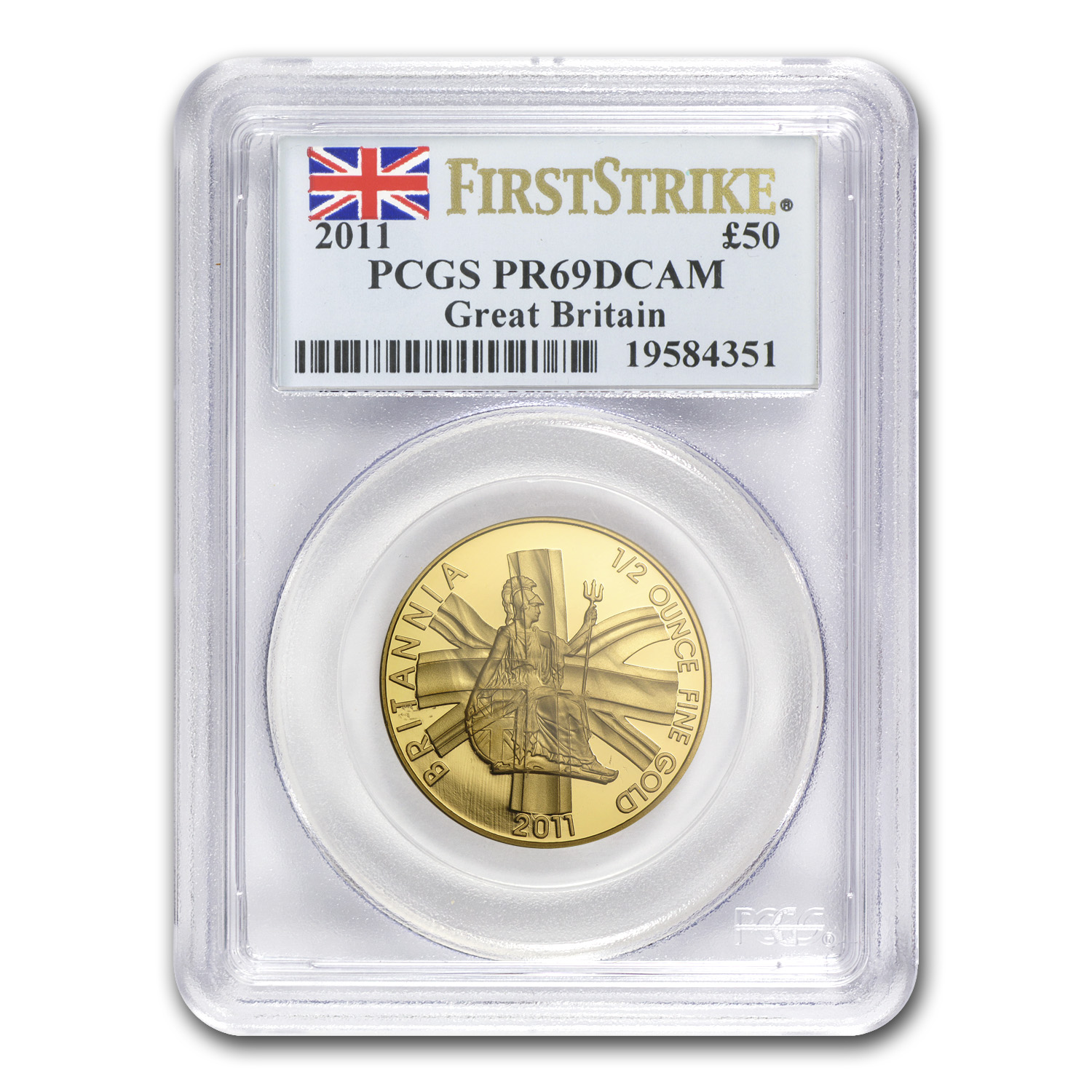 2011 Great Britain 1/2 oz Proof Gold Britannia PR-69 PCGS