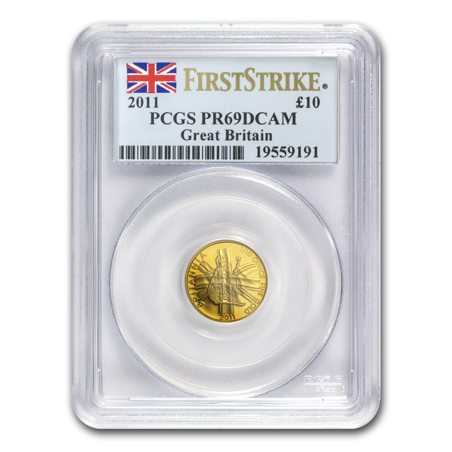 2011 Great Britain 1/10 oz Proof Gold Britannia PR-69 PCGS