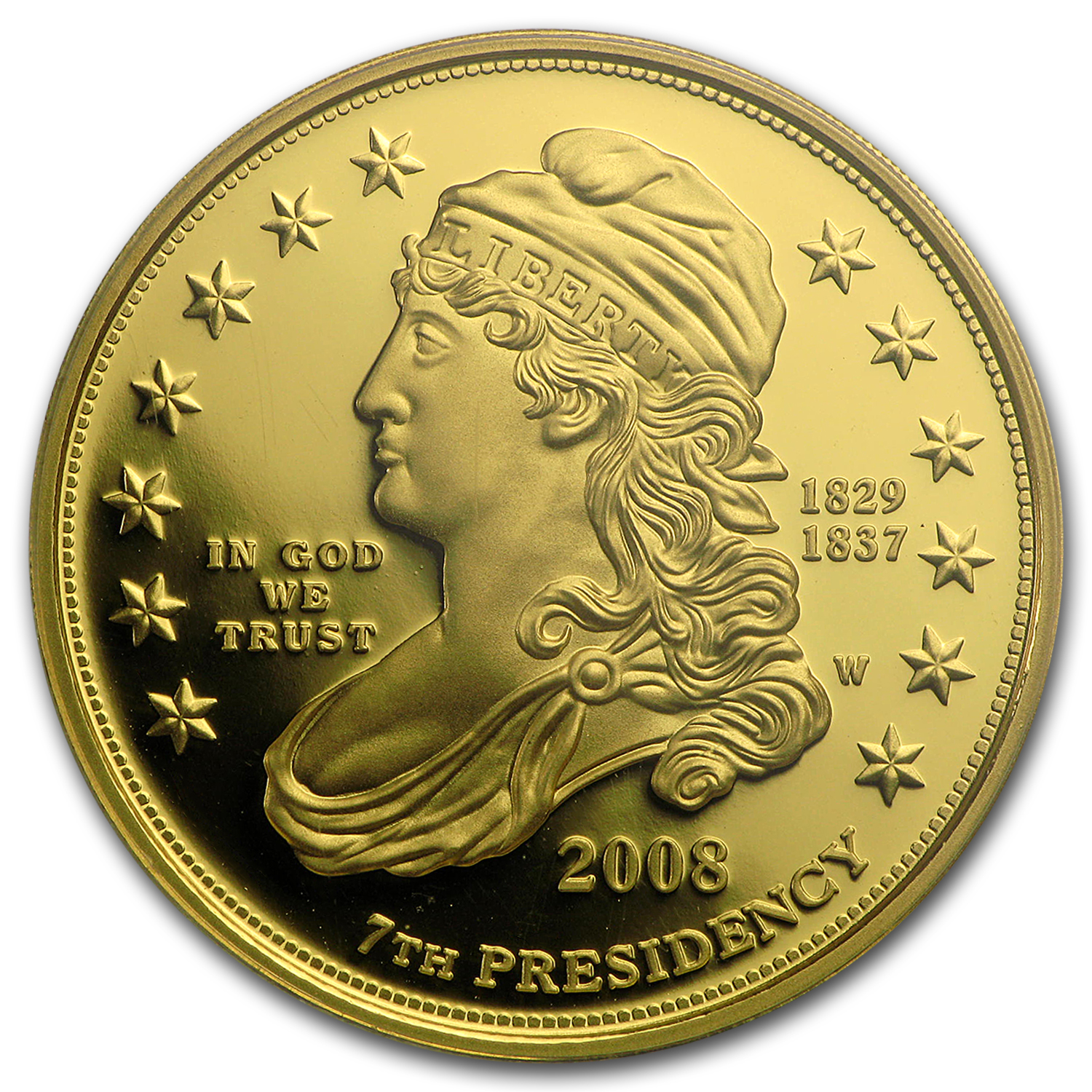 2008-W 1/2 oz Proof Gold Jackson's Liberty PR-69 PCGS