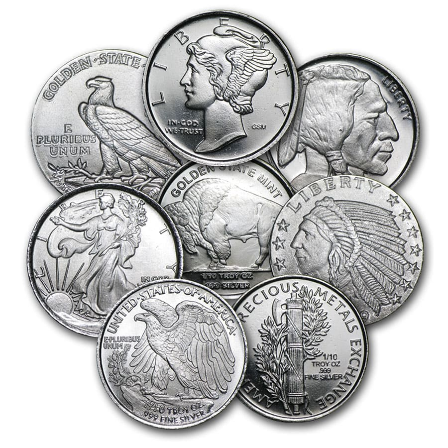 1/10 oz Silver Rounds - Secondary Market