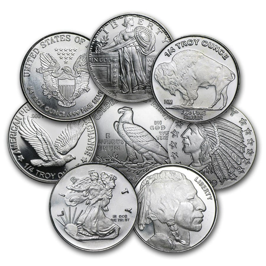 1/4 oz Silver Rounds - Secondary Market