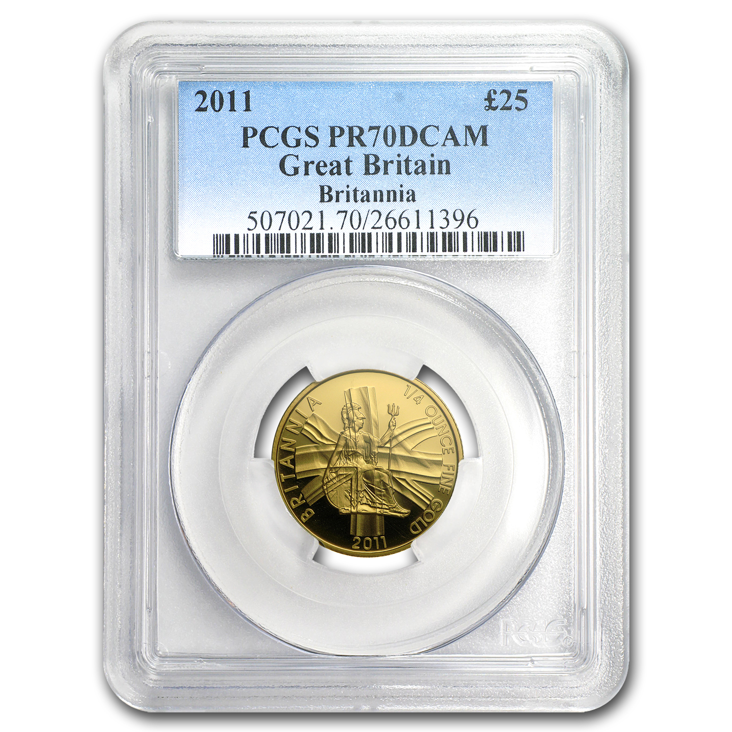 2011 Great Britain 1/4 oz Proof Gold Britannia PR-70 PCGS