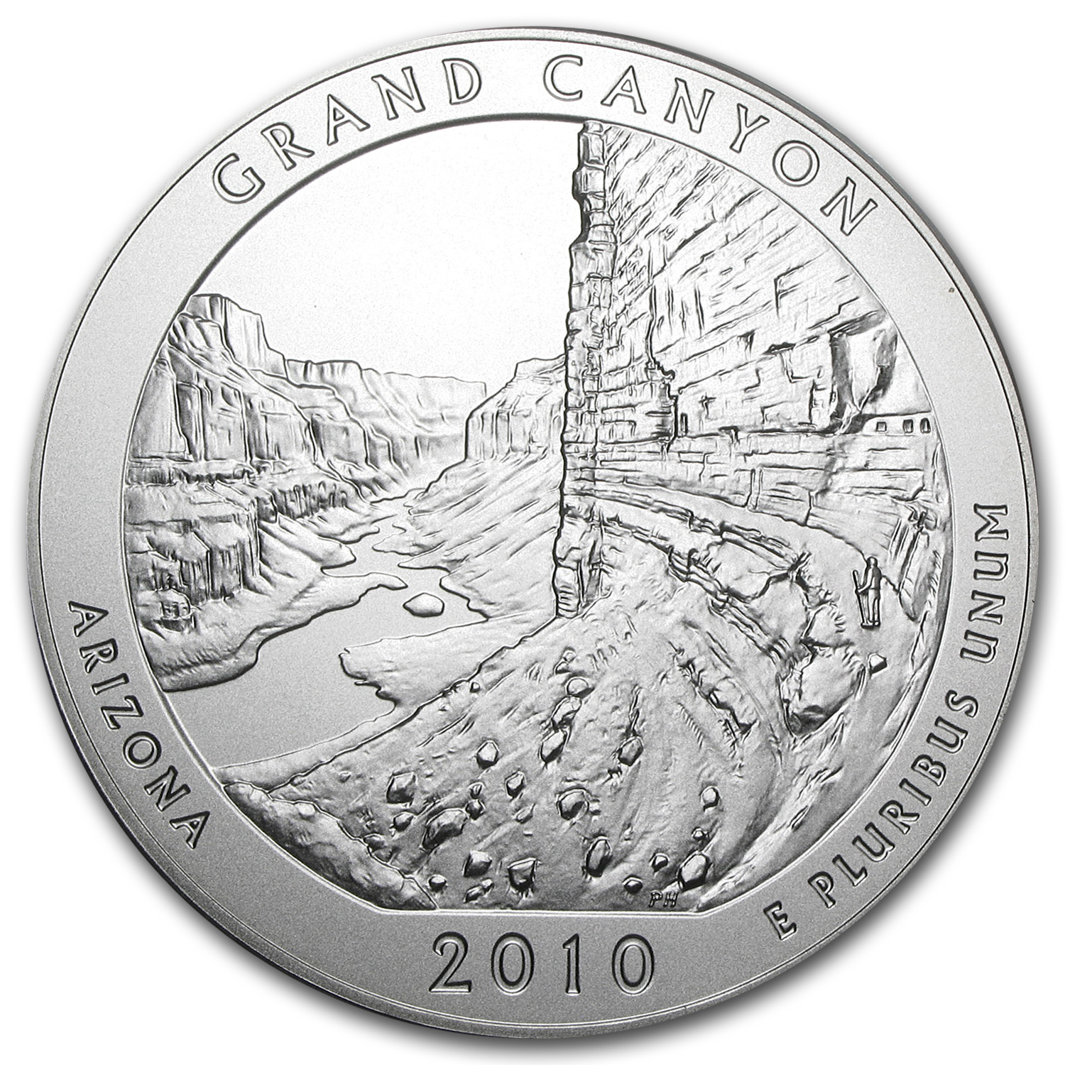 2010-P 5 oz Silver ATB Grand Canyon (w/Box & COA)