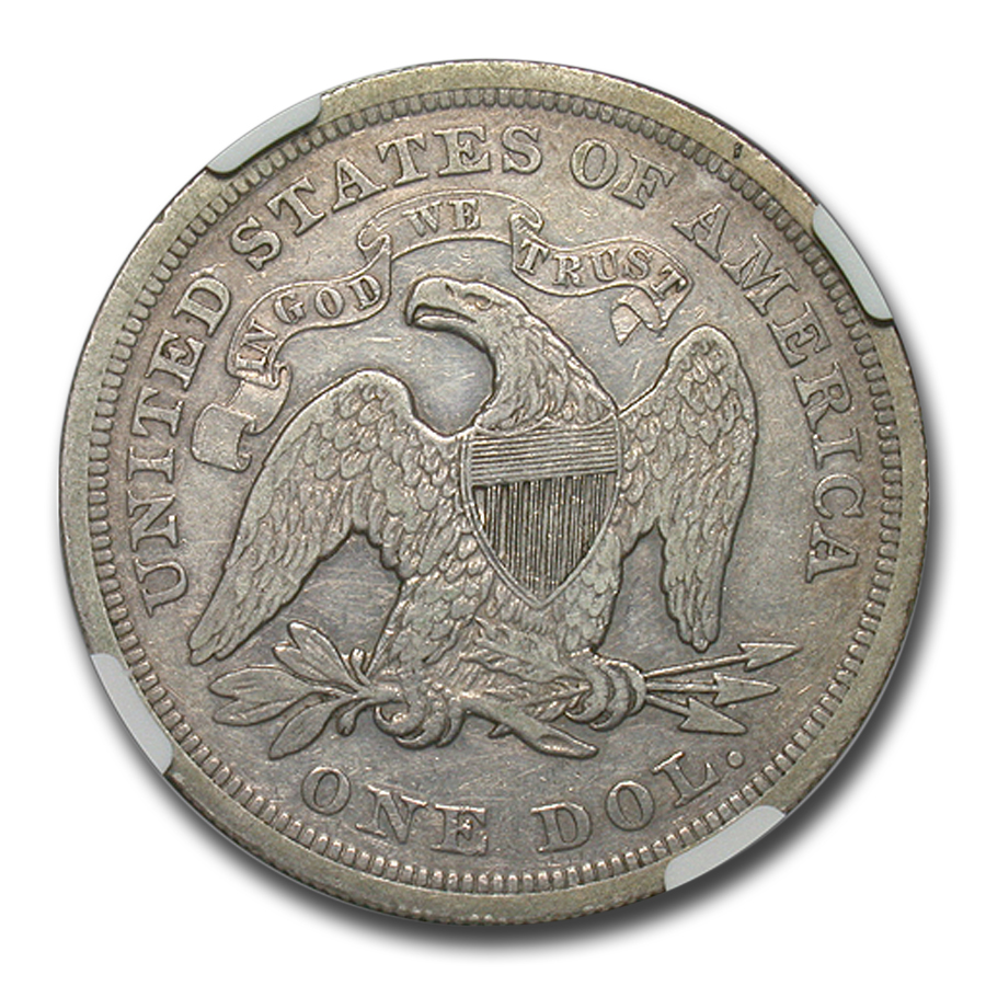 1871 Liberty Seated Dollar XF-45 NGC