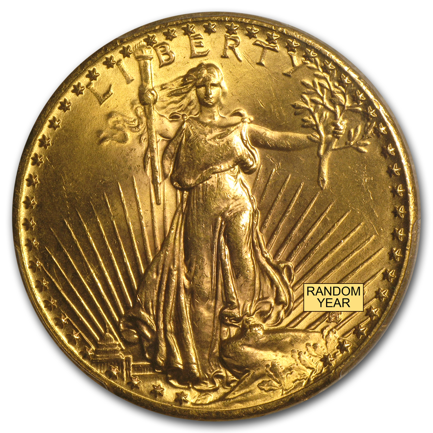 $20 Saint-Gaudens Gold Double Eagle - MS-64+ PCGS