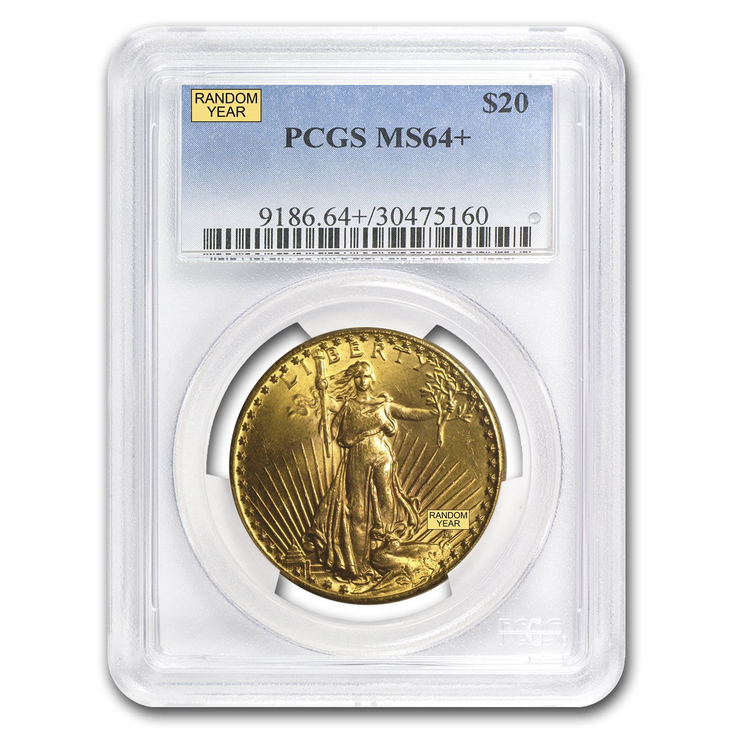 $20 Saint-Gaudens Gold Double Eagle MS-64+ PCGS
