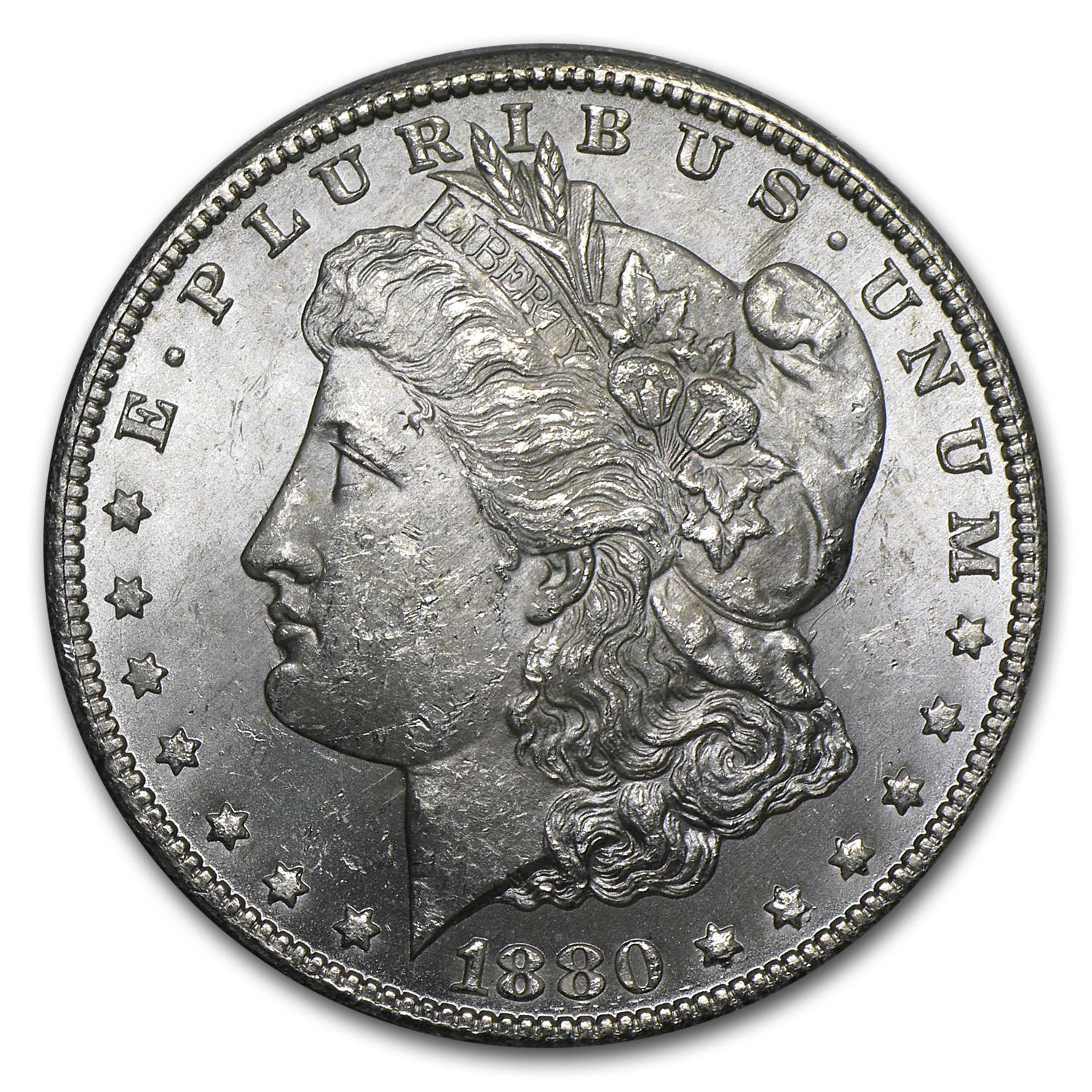 1880-CC Morgan Dollar Rev of 78 BU