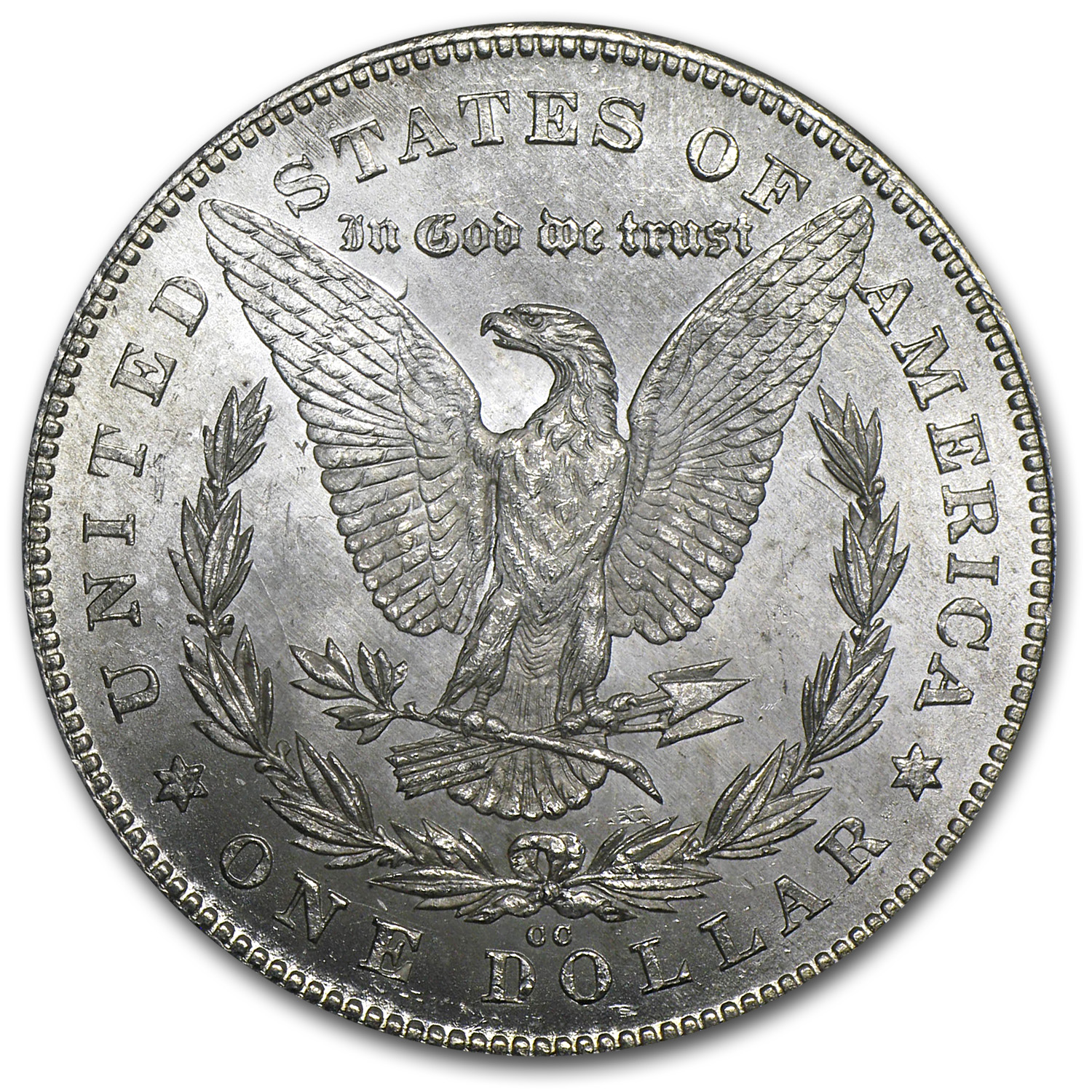 1880-CC Morgan Dollar - Reverse of 1878 - Brilliant Uncirculated