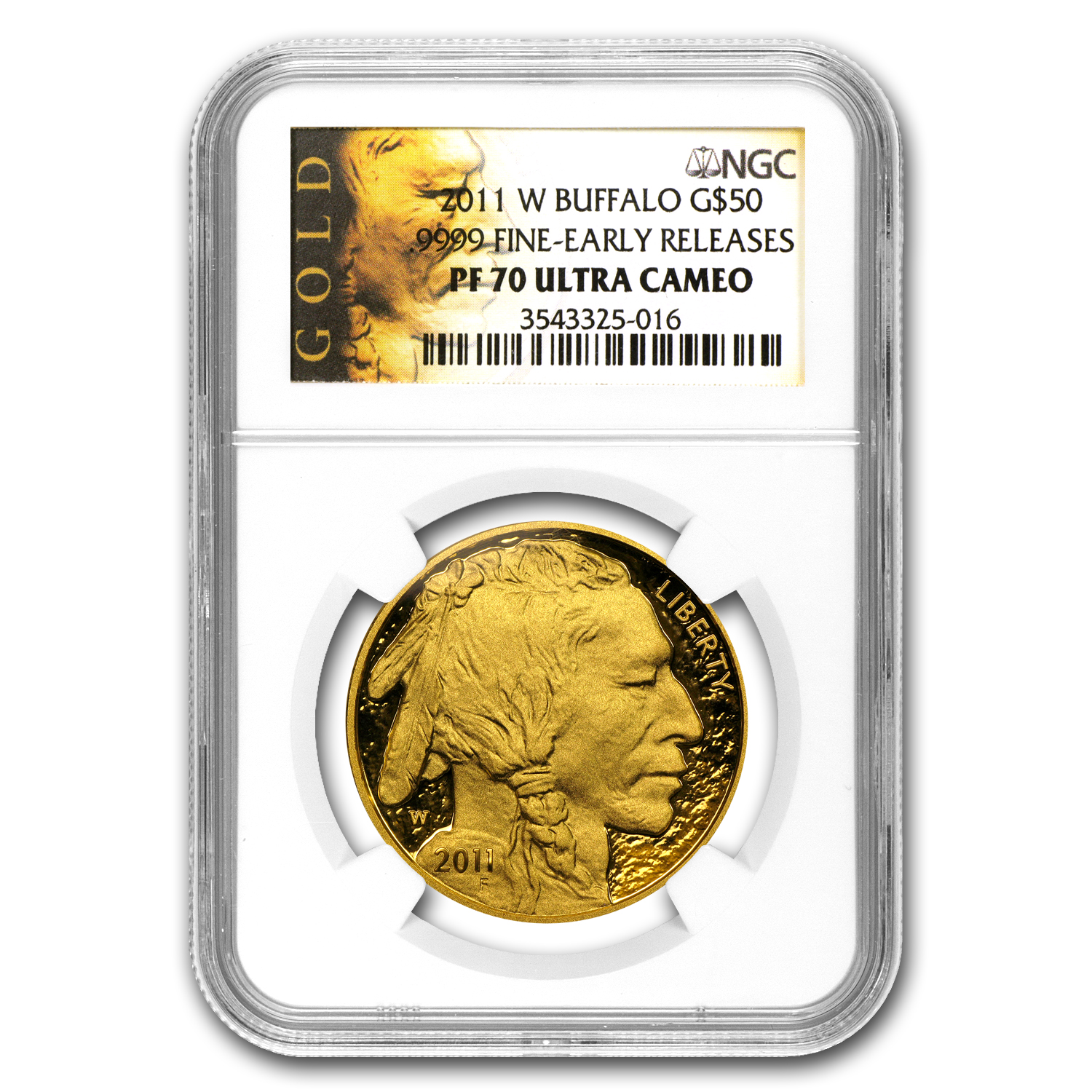 2011-W 1 oz Proof Gold Buffalo PF-70 NGC (ER)