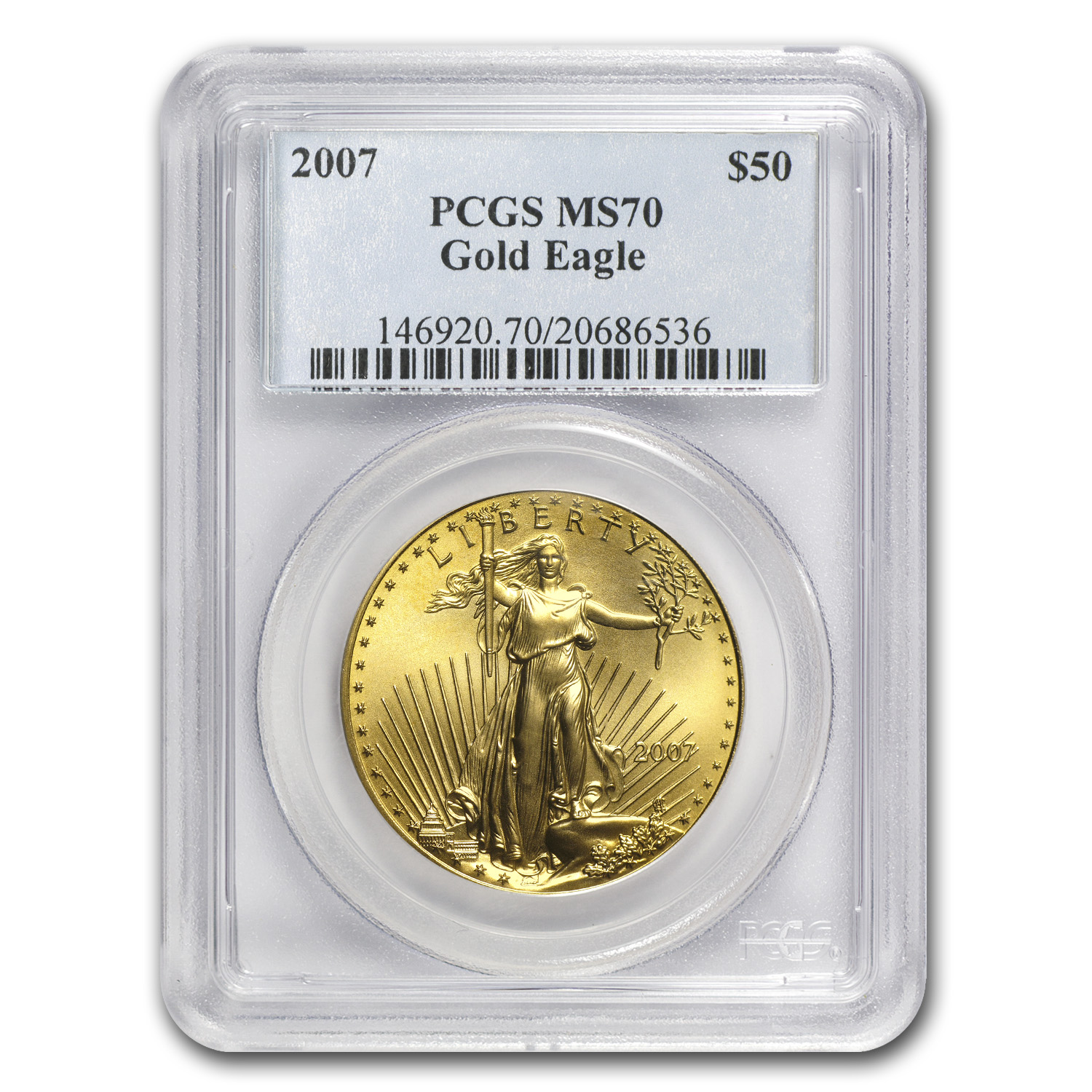 2007 1 oz Gold American Eagle MS-70 PCGS