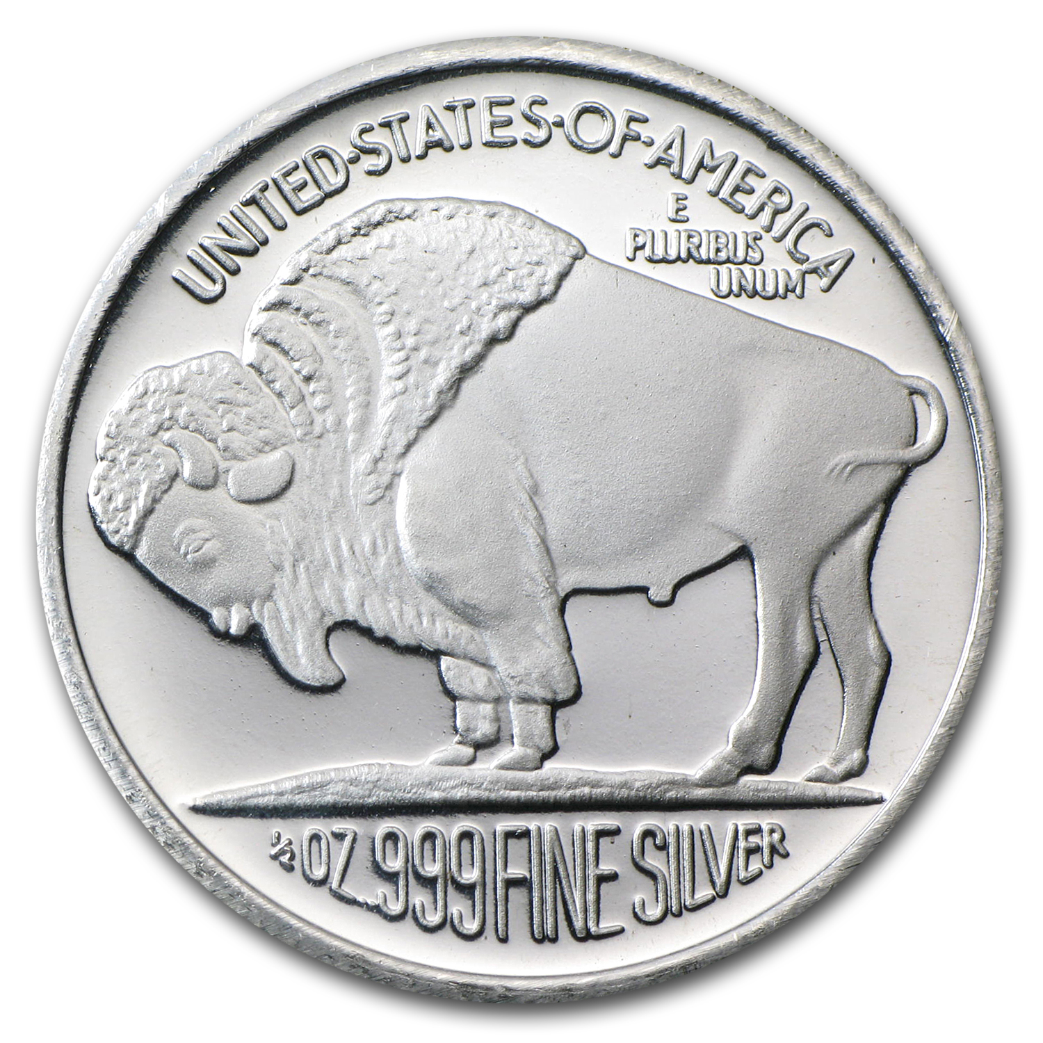 1/2 oz Silver Rounds - Buffalo (2012)