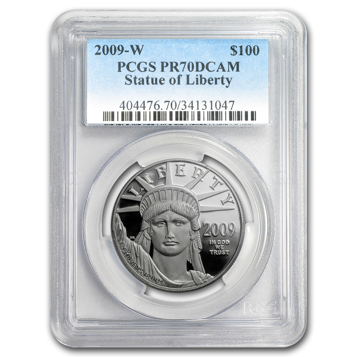 2009-W 1 oz Proof Platinum American Eagle PR-70 PCGS Registry Set